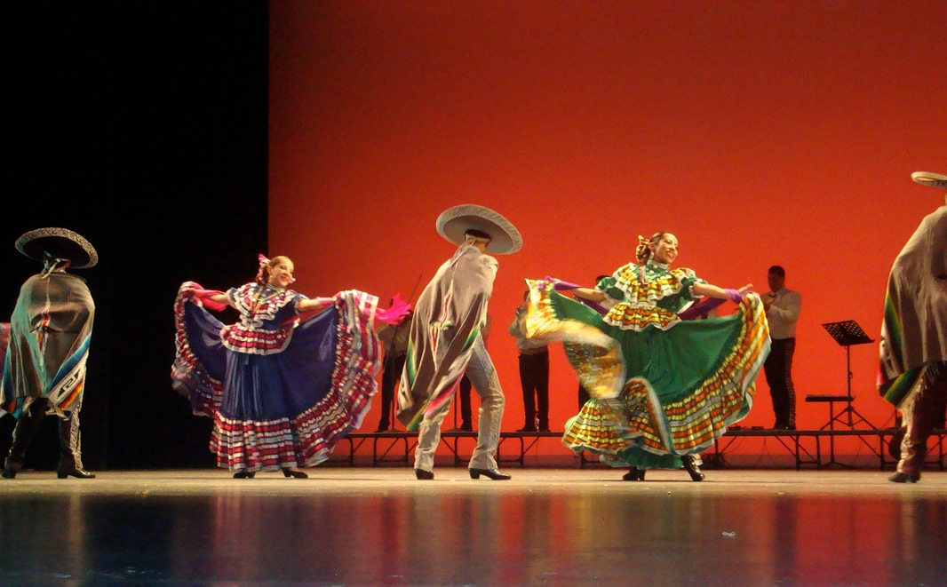 Dancers performing on stage