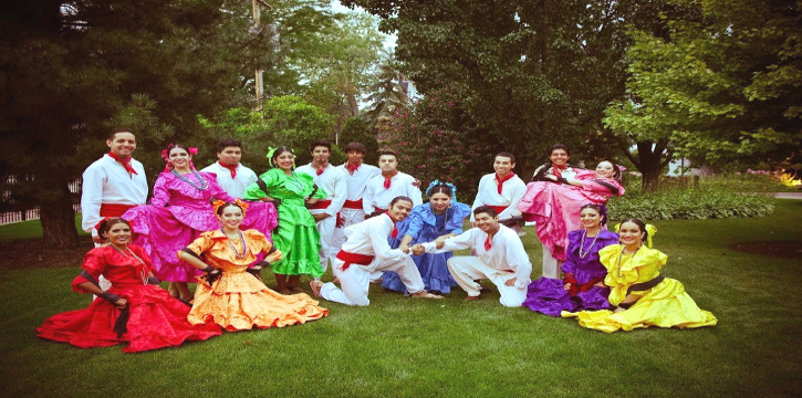 Group picture in traditional Michoacan outfit